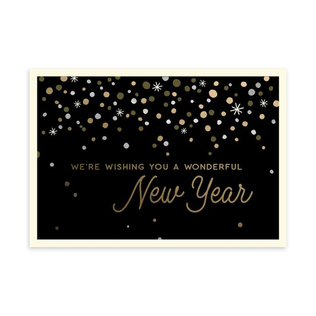 Gold & Glamour From Us Happy New Year Card
