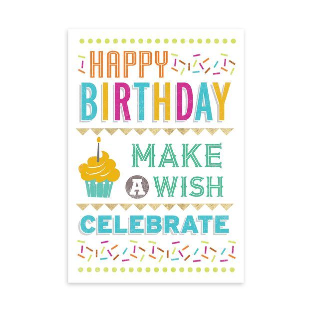 Colorful Wishing Birthday Card