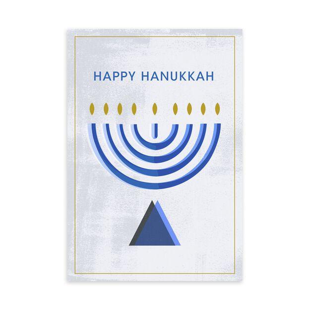 Classic Menorah Hanukkah Card