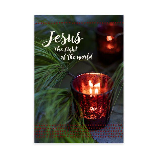 Jesus the Light Religious Christmas Card