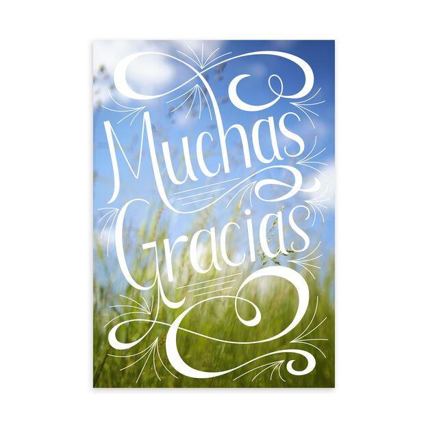 Muchas Gracias Spanish Thank You Card