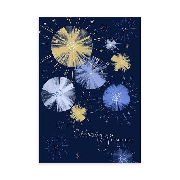 Brushwork Fireworks Retirement Card
