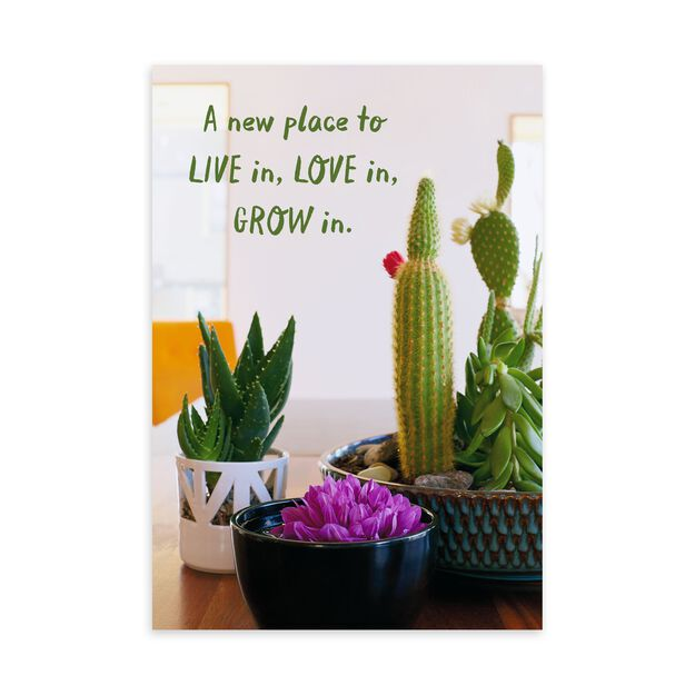 Potted Cactus New Home Card