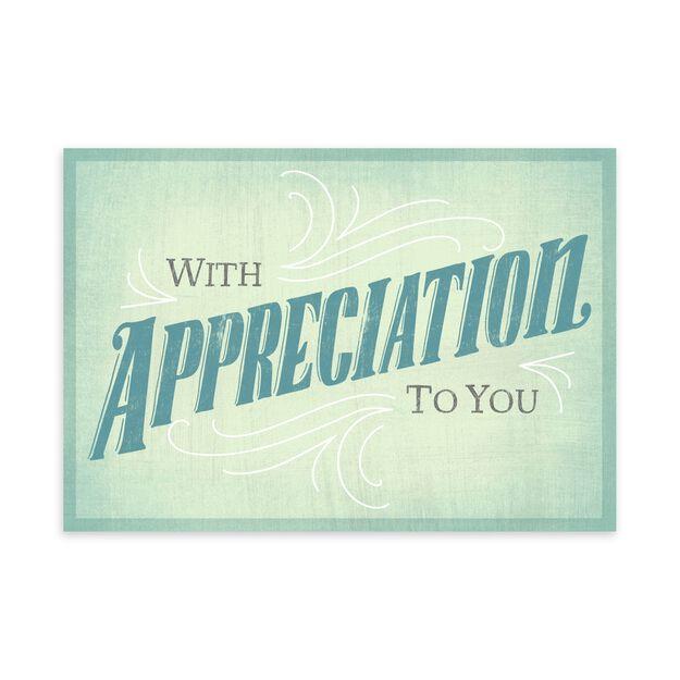Mint Green Appreciation Card