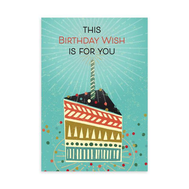 Radiant Slice of Cake Birthday Card
