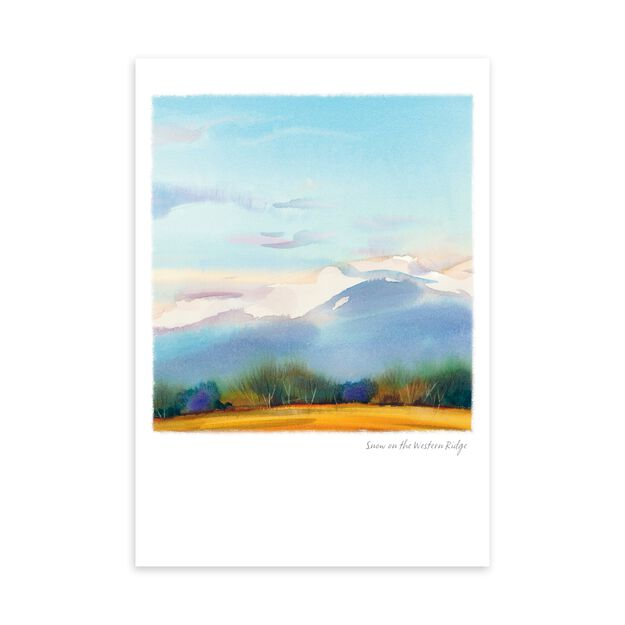 Snow on Mountains Just Because Card