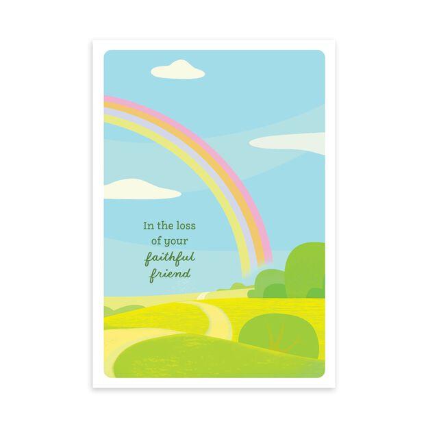 Rainbow Bridge Loss of Pet Sympathy Card