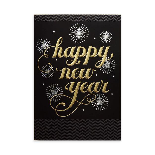 Festive Gold & Black Premium New Year Card