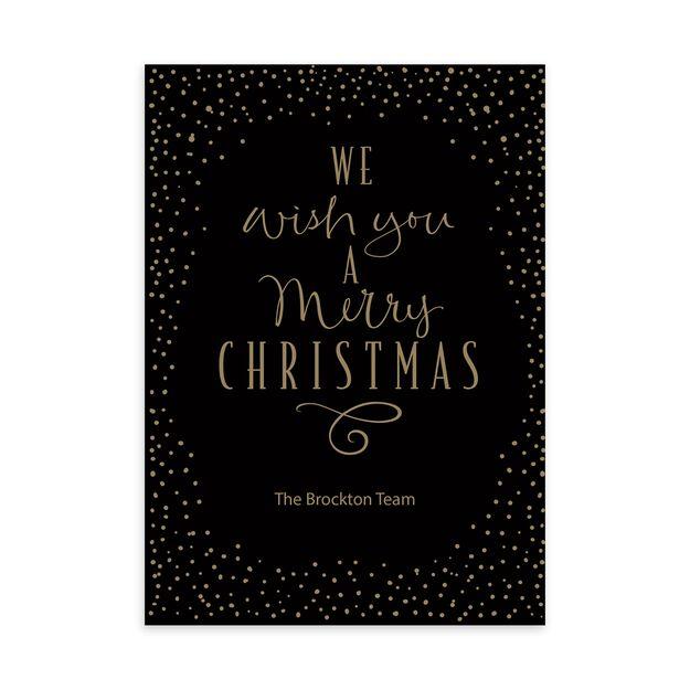 Merry Dots Customizable Christmas Card