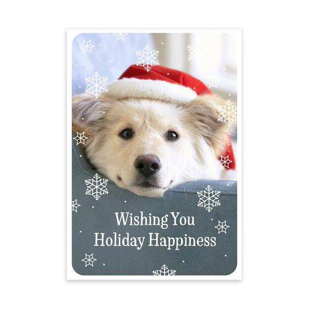 Happy Santa Pup Holiday Card