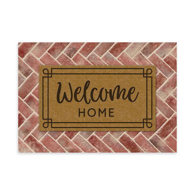 Door Mat Welcome Card