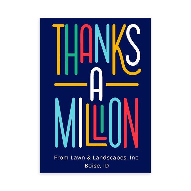 Thanks a Million Customizable Thank You Card