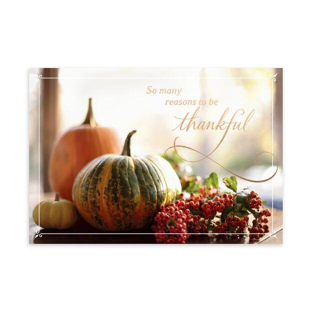 Pumpkins & Berries Thanksgiving Card