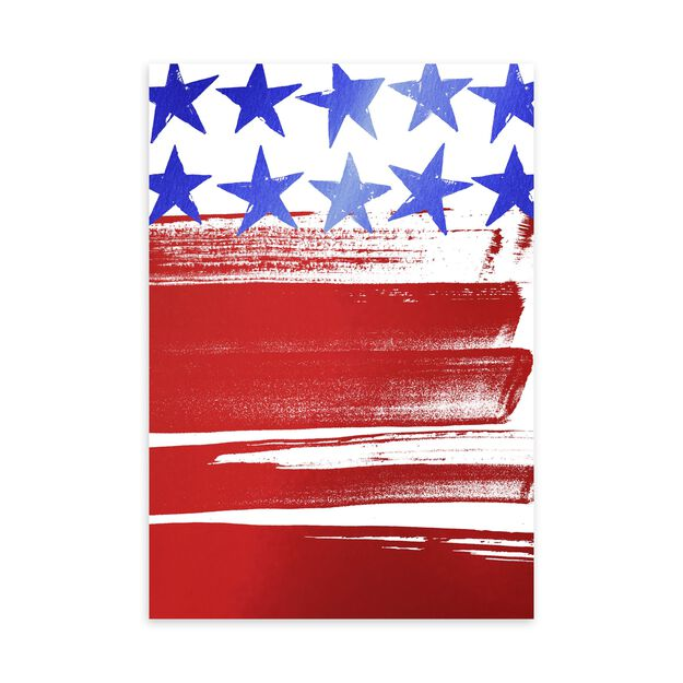 Painted Stars & Stripes Military Appreciation Card