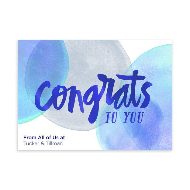 Bubbly Congrats Customizable Congratulations Card