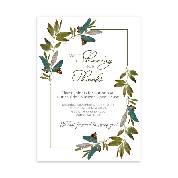 Sharing Our Thanks Customizable Invitation
