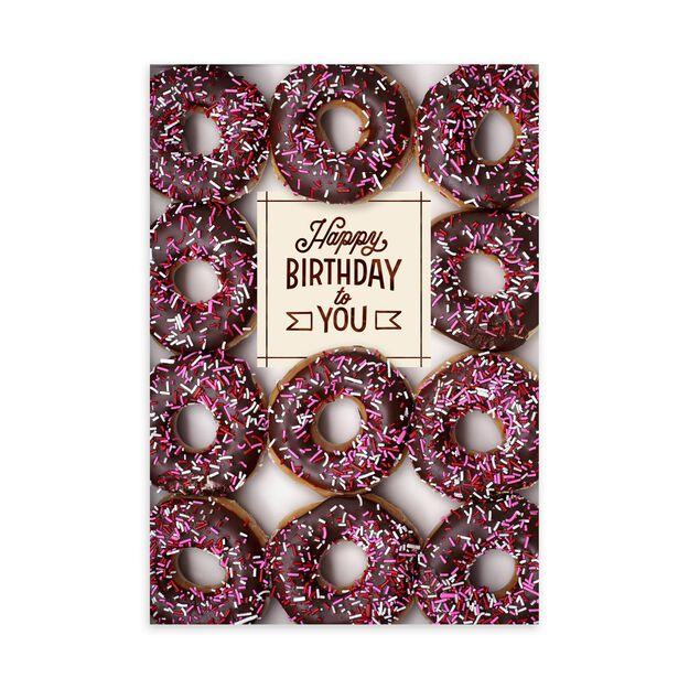 Chocolate Donuts Birthday Card