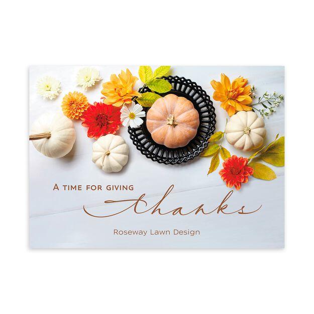 Pumpkins Place Setting Customizable Thanksgiving Card