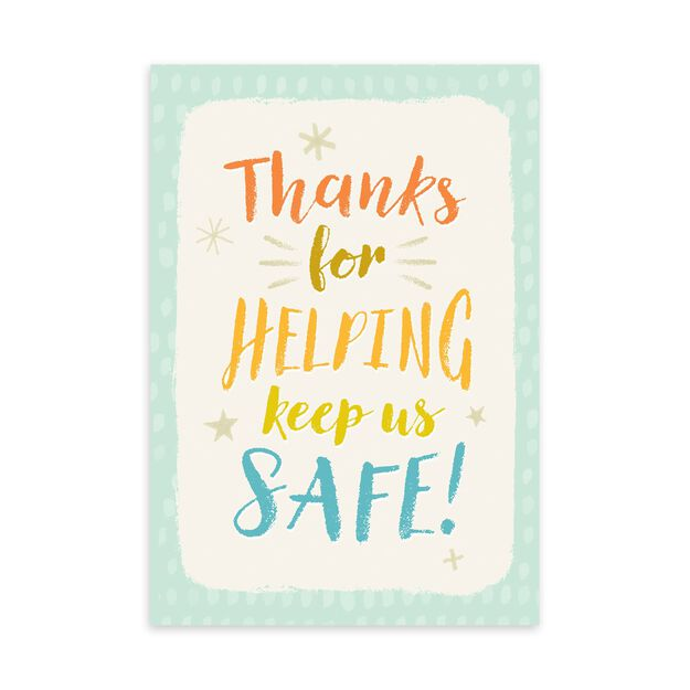 Helping Keep Us Safe Safety Thank You Card