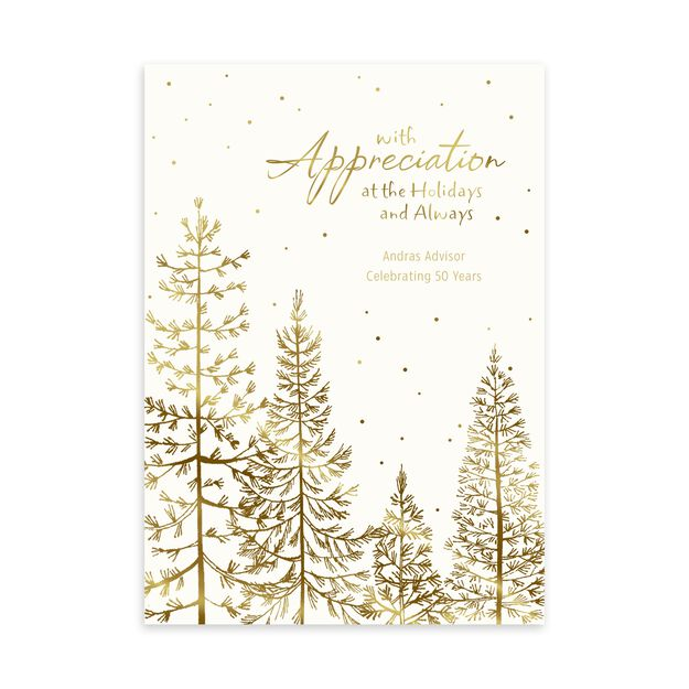 Glistening Pine Forest Customizable Holiday Card