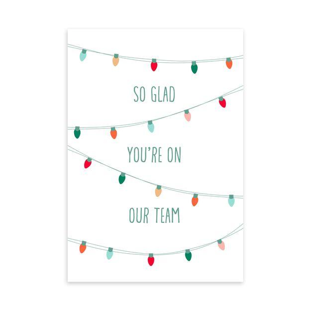 Grateful on Team & Lights Holiday Appreciation Card