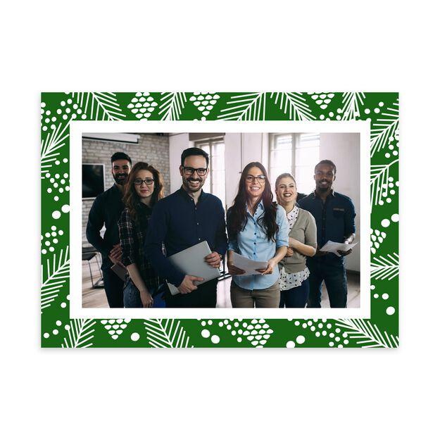 Pine Pattern Holiday Photo Card