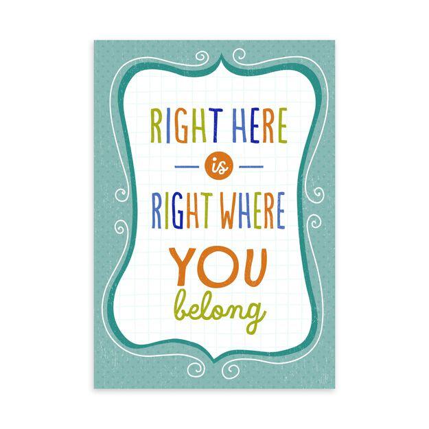 Where You Belong Welcome Card