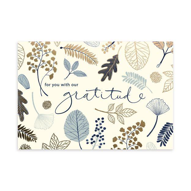 Shimmering Botanicals Thanksgiving Card
