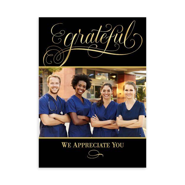 Grateful Elegance Thanksgiving Photo Card