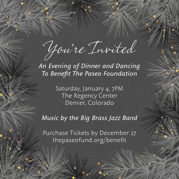 Winter Pines Customizable Invitation