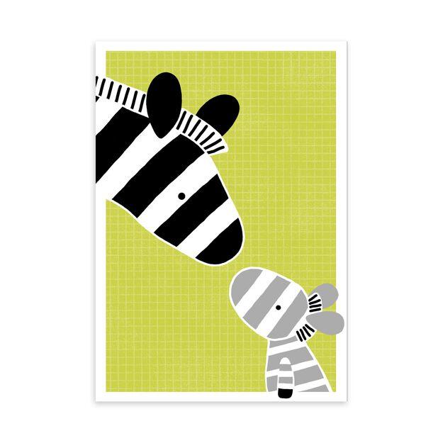 Zebra Family New Baby Card
