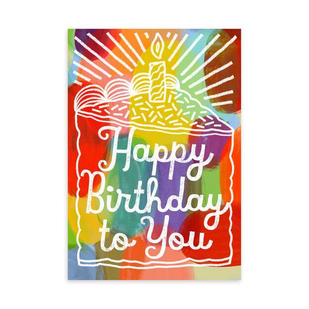 Colorful Cake Birthday Card