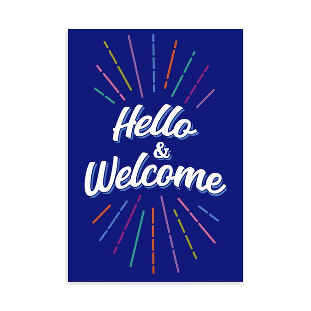 Colorful Hello & Welcome Card