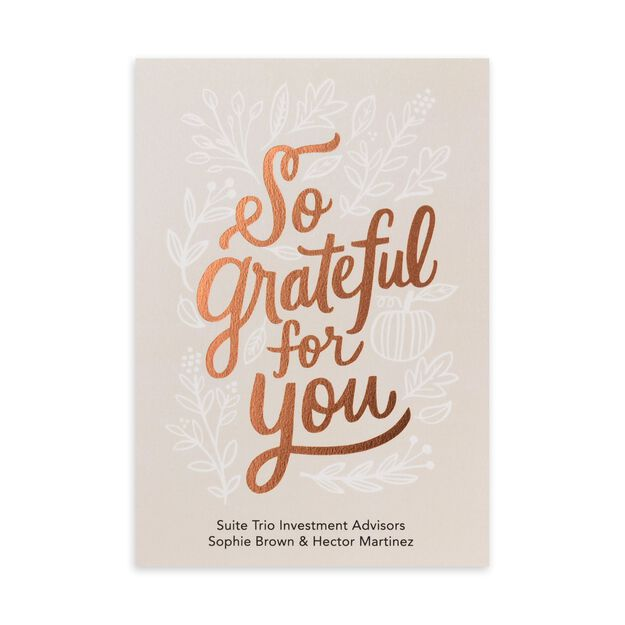 So Grateful Customizable Cover Thanksgiving Card