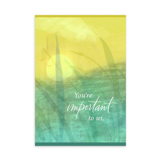 Yellow & Blue Watercolor Apology Card