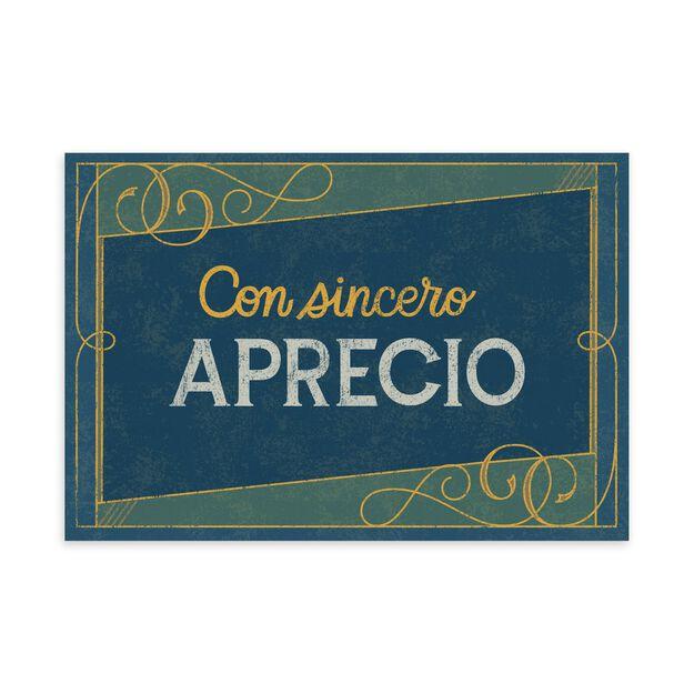 Con Sincero Aprecio Employee Appreciation Spanish Card
