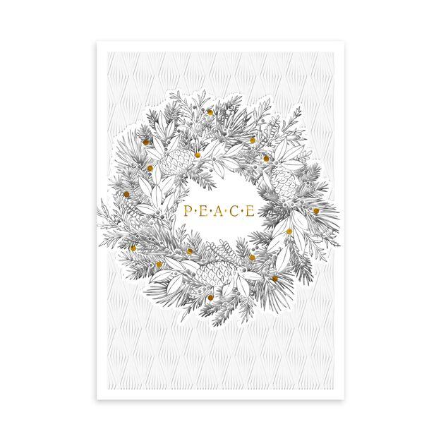 Peace Wreath Premium Christmas Card